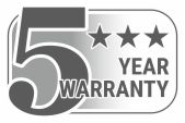 5 year warranty for good funcionality
