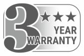 3 year warranty for good funcionality